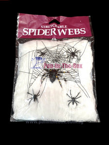 Stretchable White Spider Webs