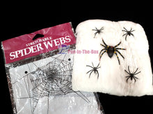 Load image into Gallery viewer, Stretchable White Spider Webs