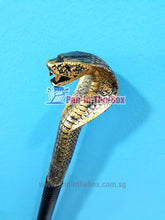 Load image into Gallery viewer, Golden Cobra Head Stick