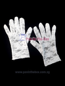White Lace Short Glove