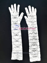 Load image into Gallery viewer, White Lace Long Glove