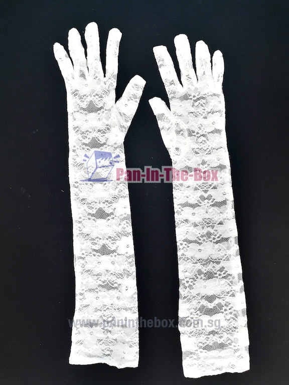 White Lace Long Glove
