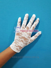 Load image into Gallery viewer, White Lace Short Glove