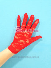 Load image into Gallery viewer, Red Lace Glove (Short)