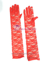 Load image into Gallery viewer, Red Lace Long Glove