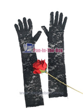 Load image into Gallery viewer, Black Lace Long Glove