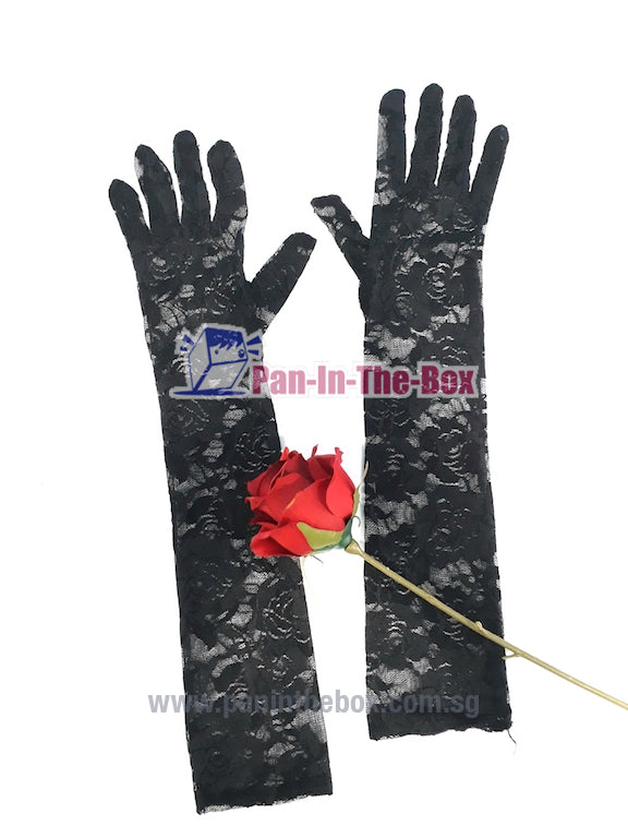 Black Lace Long Glove