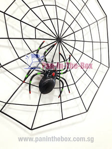 Black Spider Web Decoration