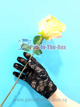 Load image into Gallery viewer, Black Lace Glove (Short)