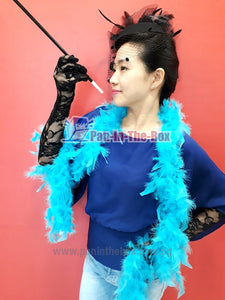Light Blue Feather boa