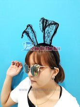 Load image into Gallery viewer, Black Rabbit Headband