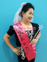 Load image into Gallery viewer, Bride to be Sash Set w/Flower Veil and Wand