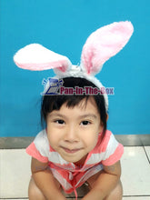 Load image into Gallery viewer, White Rabbit Headband w/LED light