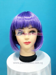 Short Straight Light Purple Wig