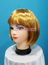 Load image into Gallery viewer, Short Straight Gold Wig