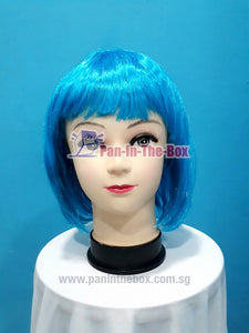 Short Straight Light Blue Wig