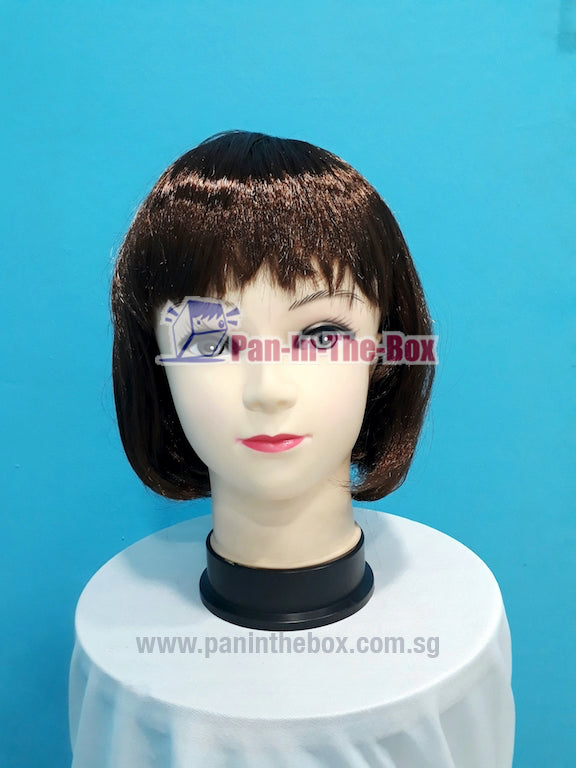 Dark Brown Short Straight Wig