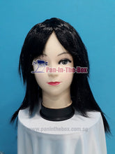 Load image into Gallery viewer, Mid Long Straight Black Wig