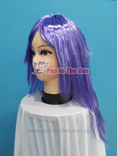 Load image into Gallery viewer, Mid Long Straight Light Purple Wig