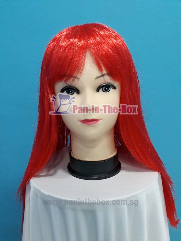 Mid Long Straight Red Wig