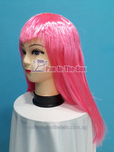 Mid Long Straight Pink Wig