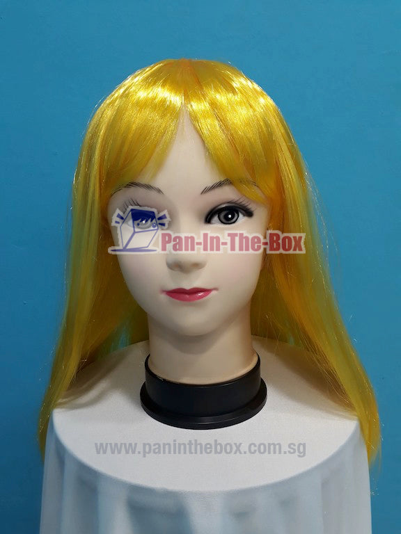 Mid Long Straight Yellow Wig