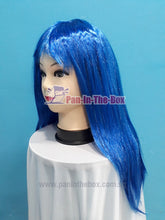 Load image into Gallery viewer, Mid Long Straight Blue Wig
