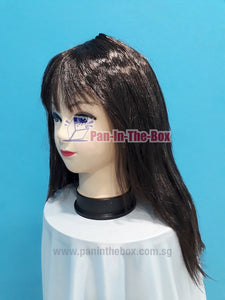 Mid Long Straight Dark Brown Wig