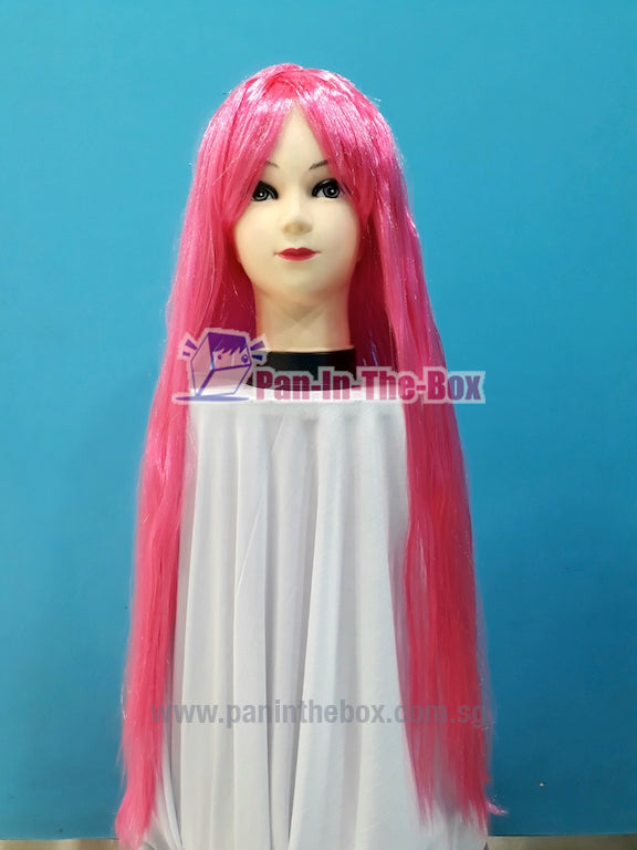 Long Straight Pink Wig