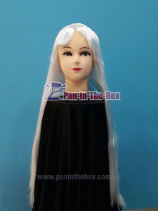 Long Straight White Wig