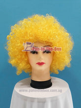 Load image into Gallery viewer, Short Yellow Afro Wig