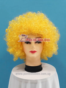 Short Yellow Afro Wig