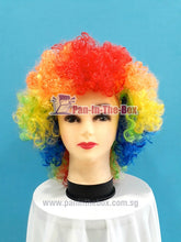Load image into Gallery viewer, Short Rainbow Afro Wig