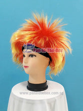 Load image into Gallery viewer, Red Yellow Headband Hair Wig