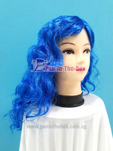 Dark Blue Curly Hair Wig