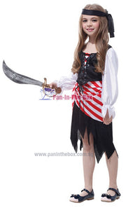 Pirate Girl Kids Costume 2
