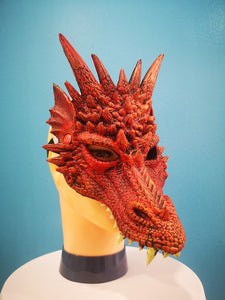 Red Rubber Dragon Mask