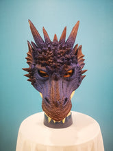 Load image into Gallery viewer, Purple Rubber Dragon Mask