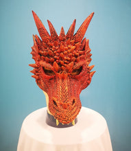 Load image into Gallery viewer, Red Rubber Dragon Mask
