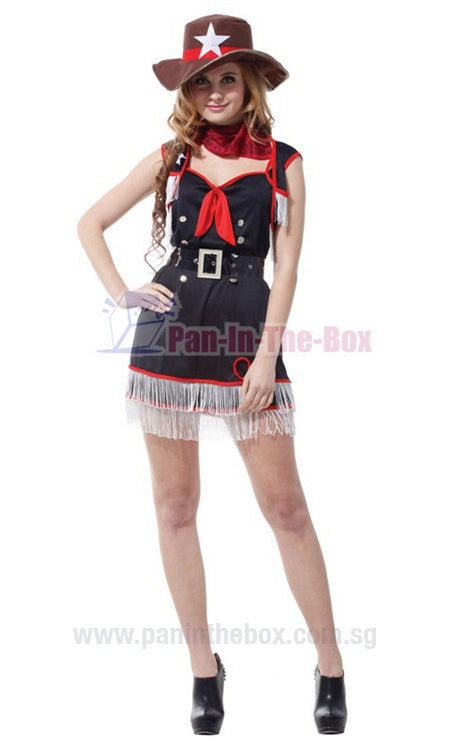 Pretty Cowgirl Costume 2