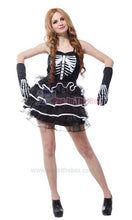 Load image into Gallery viewer, Female Skeleton Costume