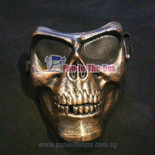 Load image into Gallery viewer, Bronze Skull Mask