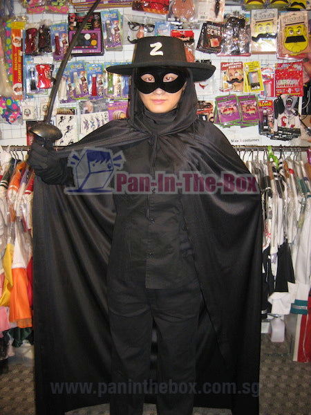 Zorro Mask With Cape + Hat