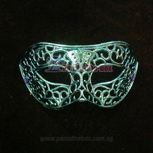 Load image into Gallery viewer, Blue Masquerade Mask