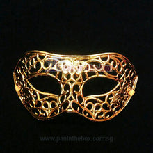 Load image into Gallery viewer, Gold Masquerade Mask