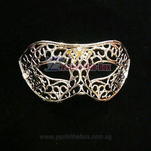 Load image into Gallery viewer, Silver Masquerade Mask
