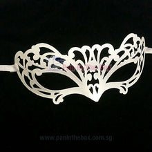 Load image into Gallery viewer, White Masquerade Mask