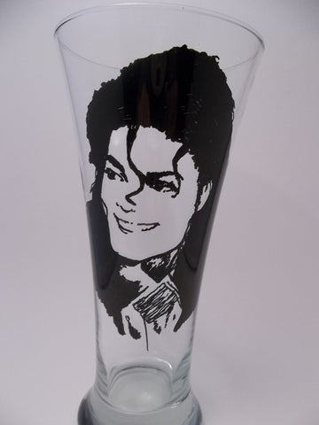Michael Jackson, Pilsner, Hand Painted Glass