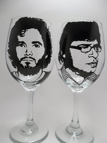Flight of the Conchords Wine Glasses