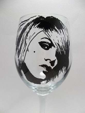 Pink the Singer, Hand Painted Glassware